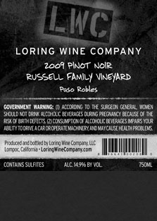 More about 00208-LWC-2009-Pinot-Russell-Family-750ML-Label