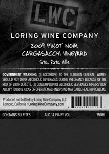 More about 00212-LWC-2009-Pinot-Cargasacchi-750ML-Label