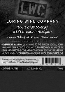 More about 00219-LWC-2009-Chardonnay-Keefer-Ranch-750ML-Label