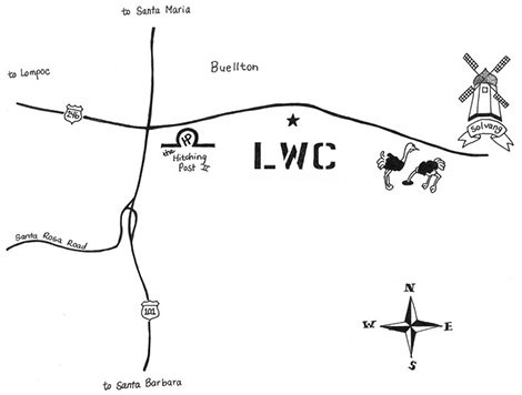 LWC Buellton Tasting Room Map